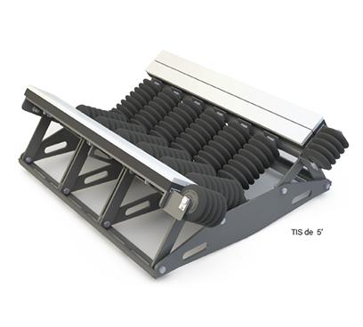 Camas de impacto para sistemas de pesaje
